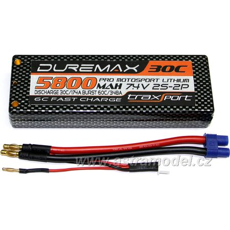 DUREMAX Power LiPol Car 7.4V 5800mAh 30C EC3