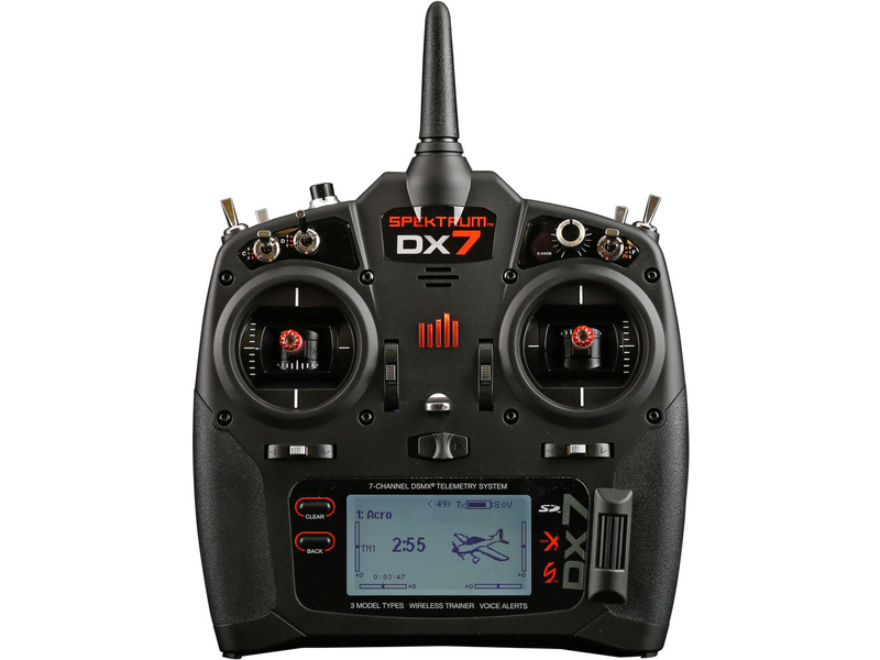 DX7 DSMX Spektrum Air-Heli AR8000 Mód 1-4