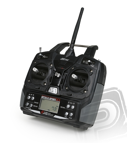 OPTIC 6 SPORT 2,4 GHz (mode 2), přijímač Optima 6