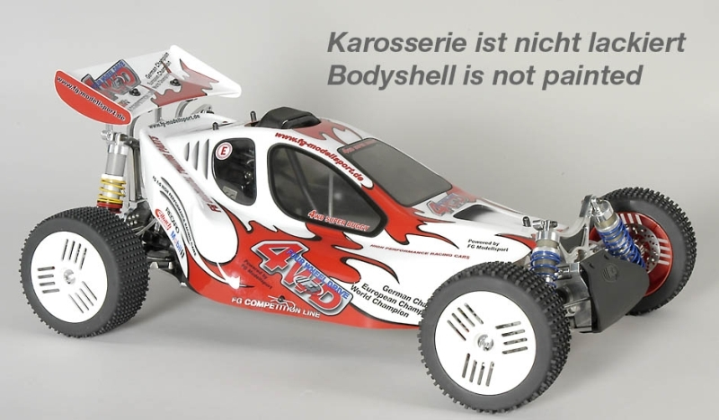 FG Leopard 4 Competition 1/6 Buggy 4wd s hydr. brzd., čirá karoserie